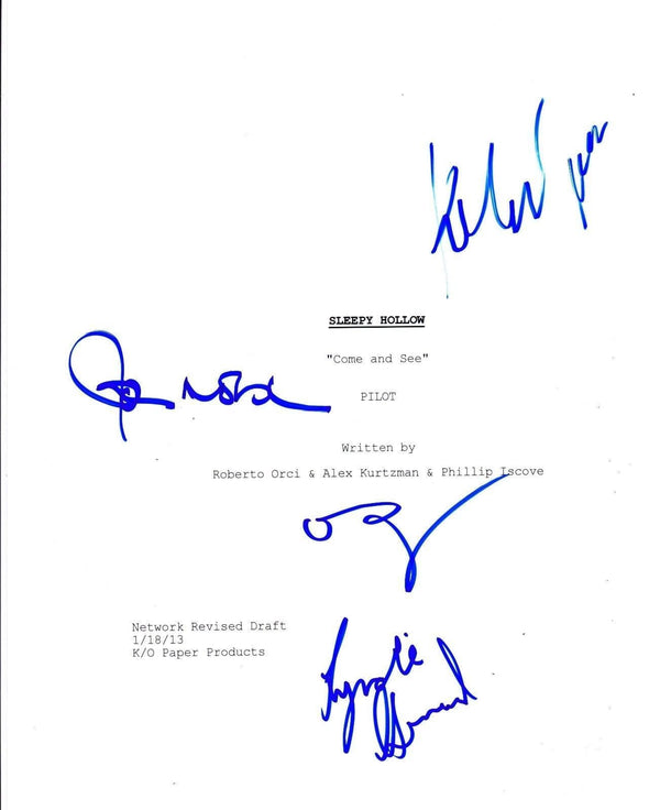 John Noble, Orlando Jones, Katia Winter, Lyndie Greenwood Authentic Autographed 'Sleepy Hollow' Script - Prime Time Signatures - TV & Film