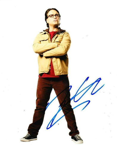 Johnny Galecki Authentic Autographed 8x10 Photo - Prime Time Signatures - TV & Film
