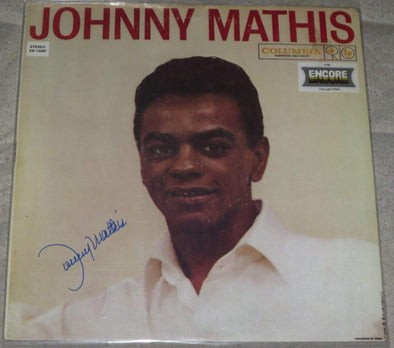 Johnny Mathis Authentic Autographed Vinyl Record - Prime Time Signatures - Music