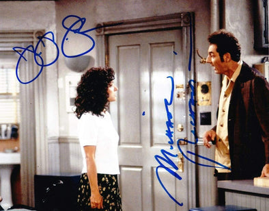 Julia Louis-Dreyfus, Michael Richards Authentic Autographed 8x10 Photo - Prime Time Signatures - TV & Film