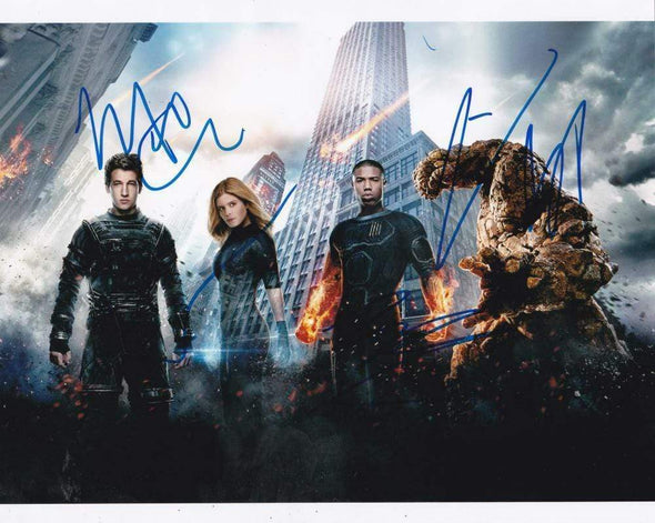 Kate Mara, Jamie Bell, Miles Teller, Michael B. Jordan Authentic Autographed 8x10 Photo - Prime Time Signatures - TV & Film