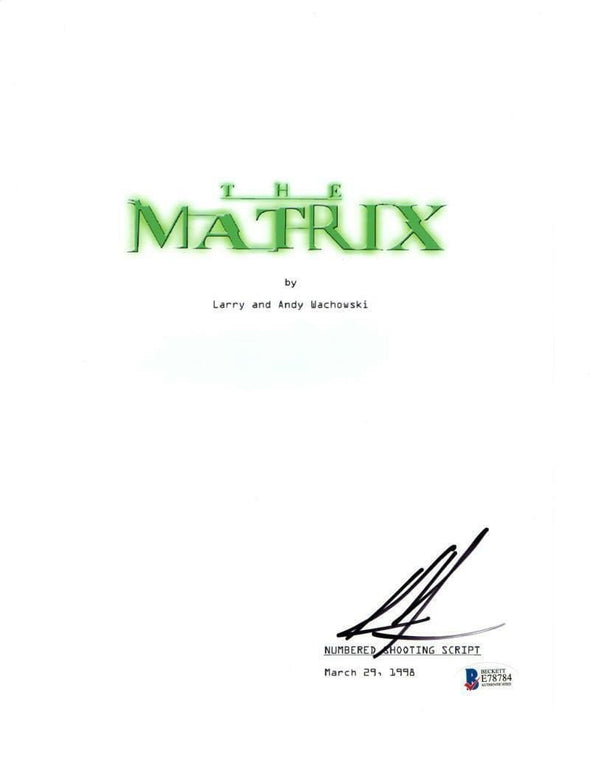 Keanu Reeves Authentic Autographed 'The Matrix' Script - Prime Time Signatures - TV & Film