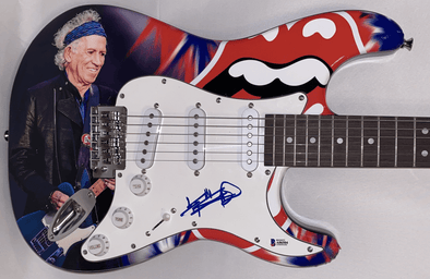 Keith Richards of The Rolling Stones Authentic Autographed Full Size Custom Electric Guitar - Prime Time Signatures - Music