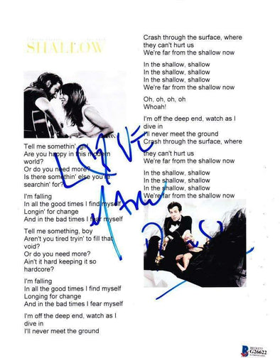 Mark Ronson Authentic Autographed A Star is Born 'Shallow' Lyric Sheet - Prime Time Signatures - Music
