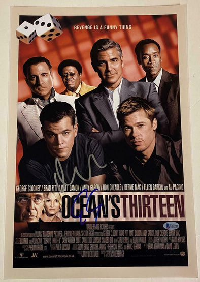 Matt Damon & George Clooney Authentic Autographed 12x18 Photo Poster - Prime Time Signatures - TV & Film