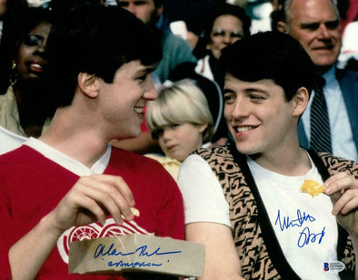 Matthew Broderick, Alan Ruck Authentic Autographed 11x14 Photo - Prime Time Signatures - TV & Film