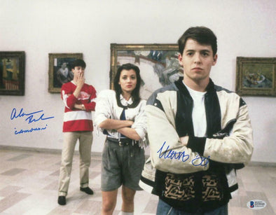 Matthew Broderick & Alan Ruck Authentic Autographed 11x14 Photo - Prime Time Signatures - TV & Film