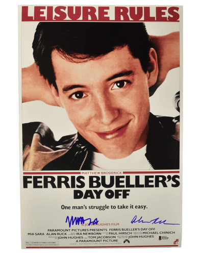 Matthew Broderick, Alan Ruck Authentic Autographed 12x18 Photo - Prime Time Signatures - TV & Film