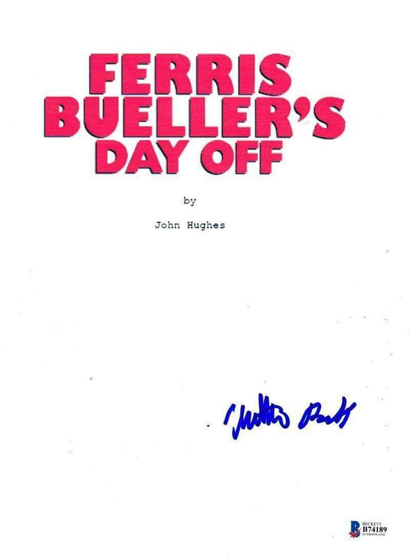 Matthew Broderick Authentic Autographed 'Ferris Bueller's Day's Off' Script - Prime Time Signatures - TV & Film