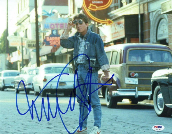 Michael J Fox Authentic Autographed 11x14 Photo - Prime Time Signatures - TV & Film