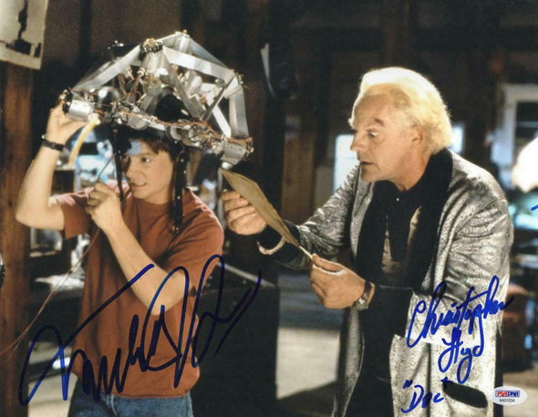 Michael J Fox, Christopher Lloyd Authentic Autographed 11x14 Photo - Prime Time Signatures - TV & Film