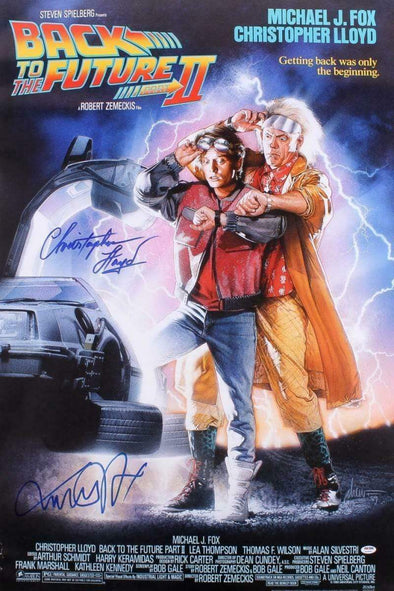 Michael J Fox, Christopher Lloyd Authentic Autographed Full Size Poster - Prime Time Signatures - TV & Film