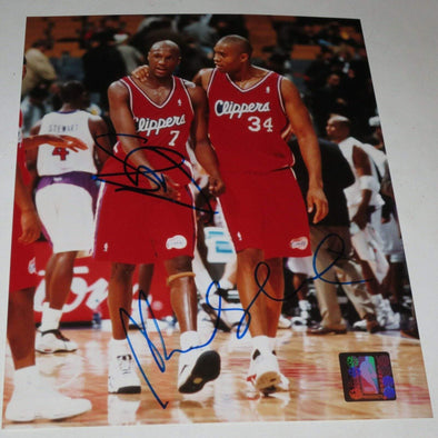 Michael Olowokandi, Lamar Odom Authentic Autographed 8x10 Photo - Prime Time Signatures - Sports