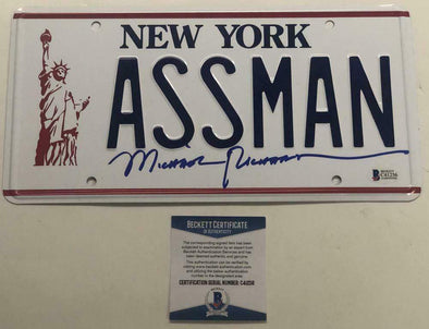 "Michael Richards Authentic Autographed ""ASSMAN"" License Plate - Prime Time Signatures - TV & Film"
