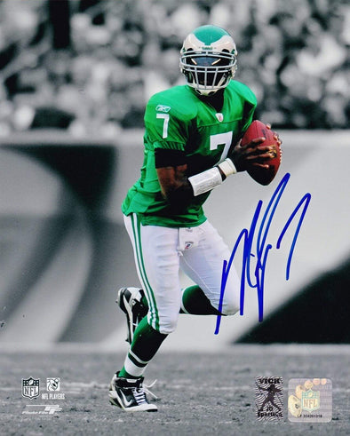 Mike Vick Authentic Autographed 8x10 Photo - Prime Time Signatures - Sports