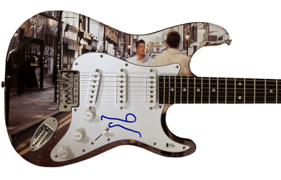 Noel Gallagher of Oasis Authentic Autographed Full Size Custom Electric Guitar - Prime Time Signatures - Music