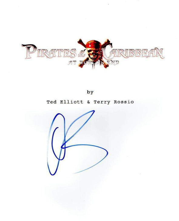 Orlando Bloom Authentic Autographed 'Pirates of the Caribbean at Worlds End' Script - Prime Time Signatures - TV & Film