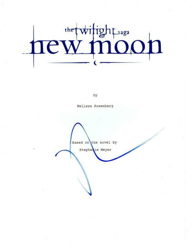 Robert Pattinson Authentic Autographed 'Twlight New Moon' Script - Prime Time Signatures - TV & Film