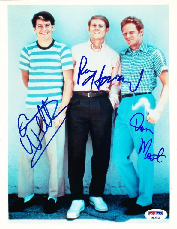 Ron Howard, Don Williams, Anson Williams Authentic Autographed 8x10 Photo - Prime Time Signatures - TV & Film