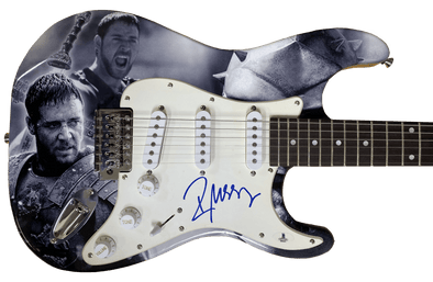 Russell Crowe Authentic Autographed Full Size Custom Electric Guitar - Prime Time Signatures - TV & Film