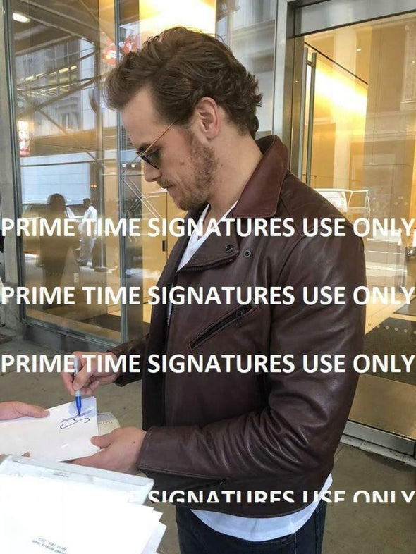 Sam Heughan Authentic Autographed 11x14 Photo - Prime Time Signatures - TV & Film