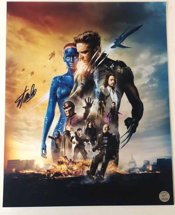 Stan Lee, Chris Evans Authentic Autographed 16x20 Photo - Prime Time Signatures - TV & Film