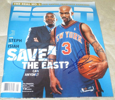 Stephon Marbury, Isiah Thomas Authentic Autographed ESPN The Magazine - Prime Time Signatures - Sports