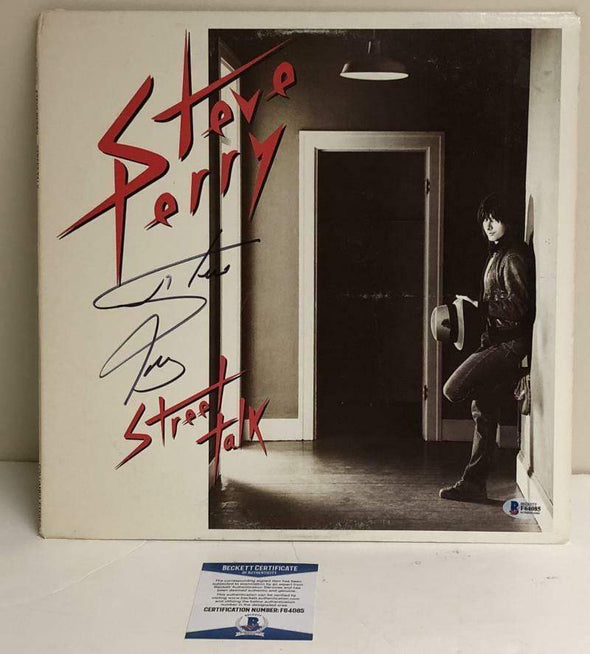 Steve Perry of Journey Authentic Autographed Vinyl Record - Prime Time Signatures - Music