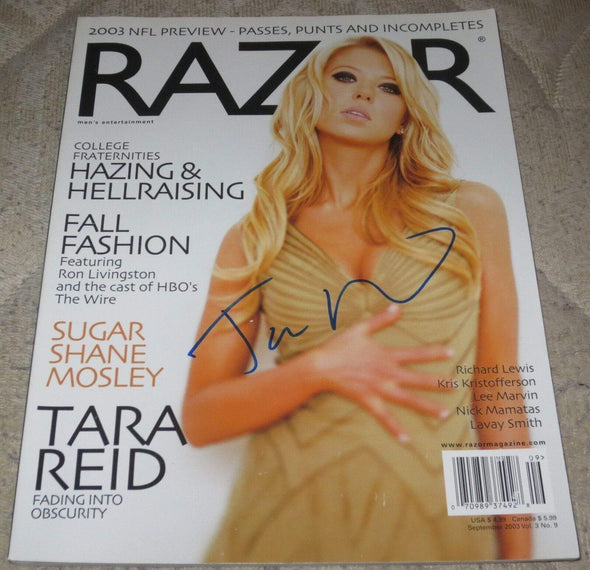 Tara Reid Authentic Autographed Razor Magazine - Prime Time Signatures - TV & Film