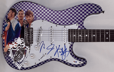 The Jonas Brothers Authentic Autographed Full Size Custom Electric Guitar - Prime Time Signatures - Music