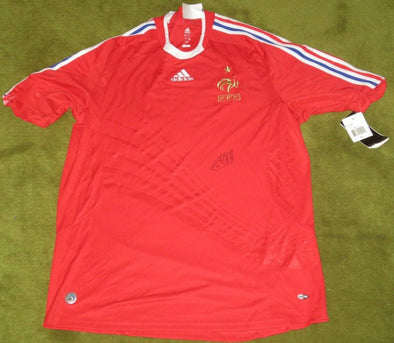 Thierry Henry Authentic Autographed Team France Jersey - Prime Time Signatures - Sports