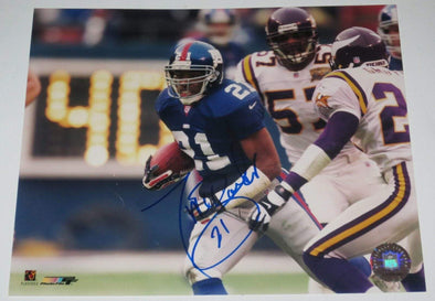 Tiki Barber Authentic Autographed 8x10 Photo - Prime Time Signatures - Sports