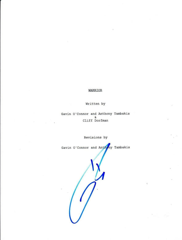 Tom Hardy Authentic Autographed 'Warrior' Script - Prime Time Signatures - TV & Film