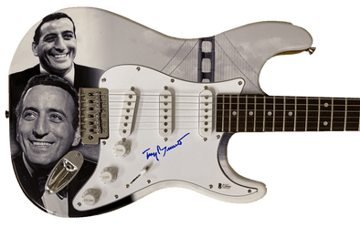 Tony Bennett Authentic Autographed Full Size Custom Electric Guitar - Prime Time Signatures - Music