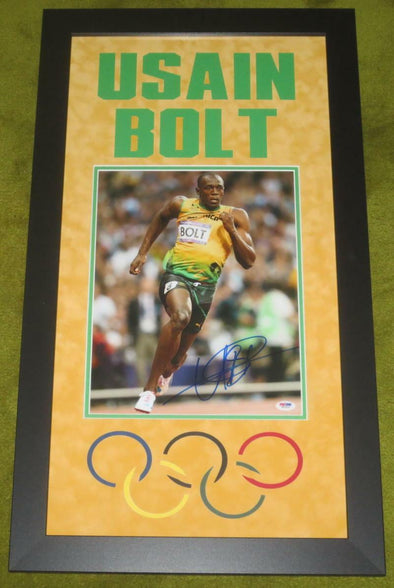 Usain Bolt Authentic Autographed 11x14 Photo, Professionally Framed - Prime Time Signatures - Sports