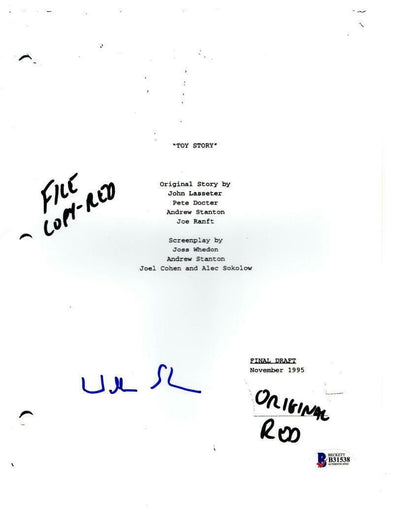Wallace Shawn Authentic Autographed 'Toy Story' Script - Prime Time Signatures - TV & Film