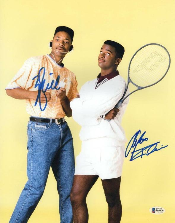 Will Smith & Alfonso Ribeiro Authentic Autographed 11x14 Photo - Prime Time Signatures - TV & Film