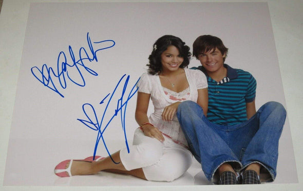Zac Efron & Vanessa Hudgens Authentic Autographed 11x14 Photo - Prime Time Signatures - TV & Film