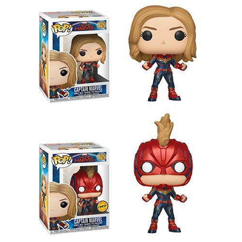 Funko Pop Captain Marvel Chase common set - Hobbitland Toys
