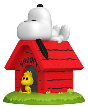 Peanuts Snoopy on Doghouse Deluxe Pop! Vinyl Figure