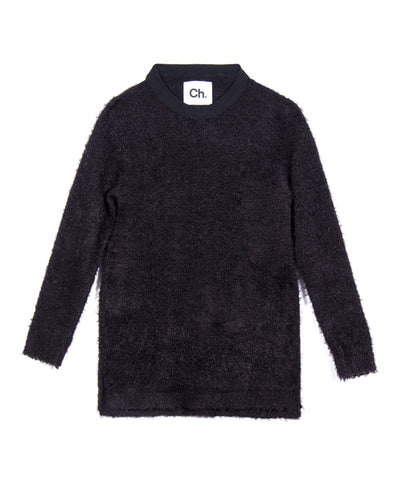 TANO SWEATER - BLACK MOHAIR