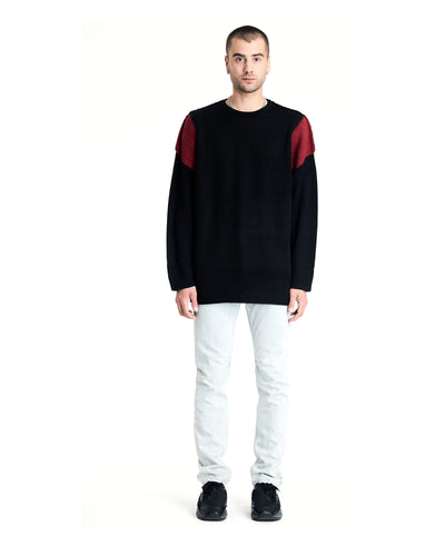 Riv Sweater - Black and Red