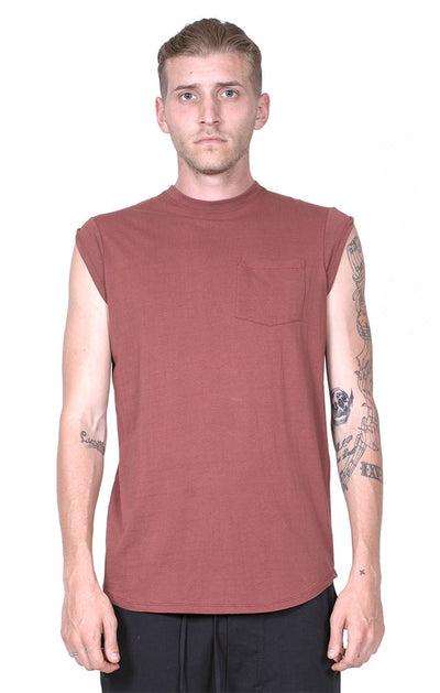 Chapter Plas Capped Sleeve Shirt in Rust
