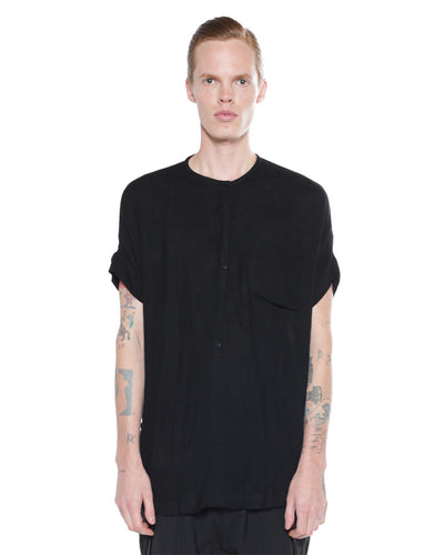 Auno Henley Shirt - Black