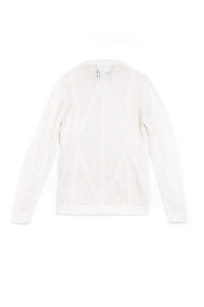 AKIM SWEATER - WHITE MOHAIR