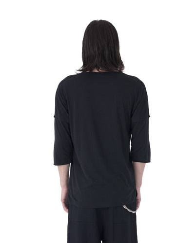 Stalt 3/4 Sleeve T-Shirt - Black