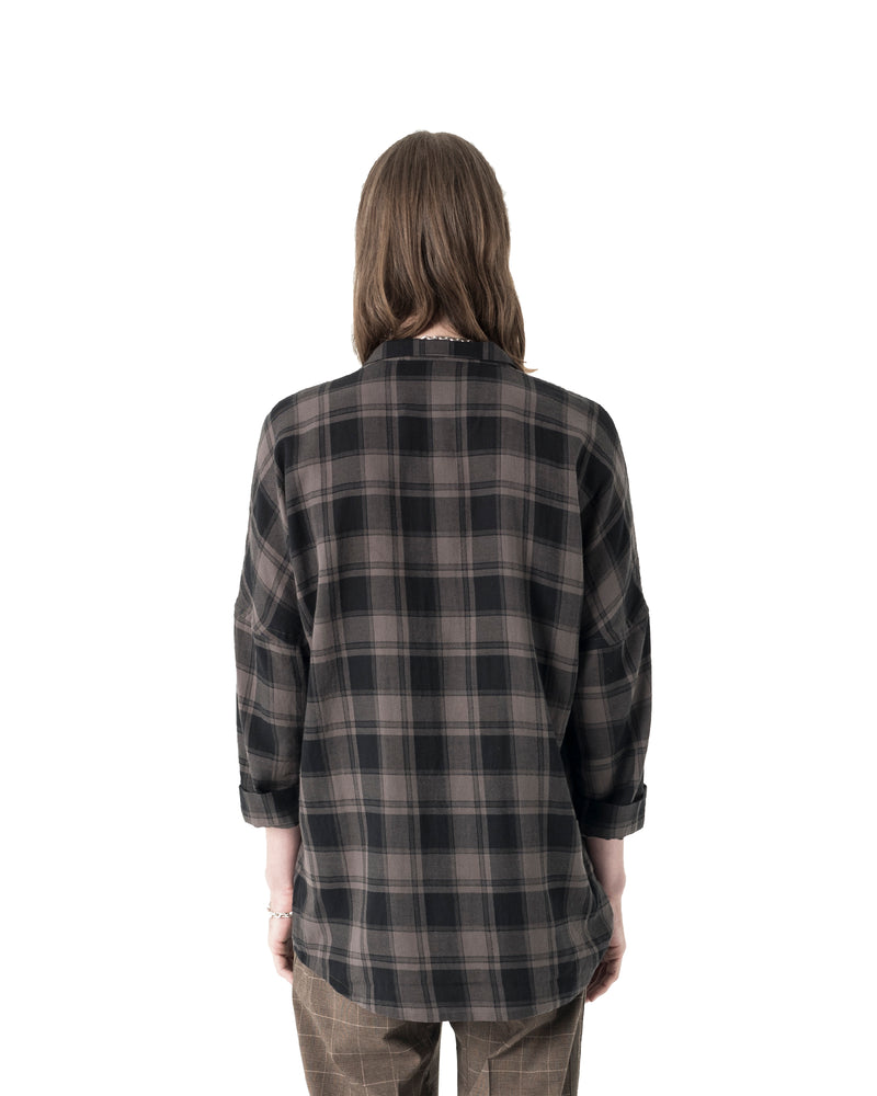 Mith Woven Shirt - OD Charcoal Plaid