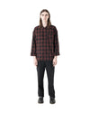 Moro Woven Shirt - Red Black Check