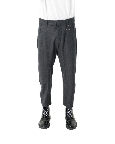 OPT Trouser - Charcoal Navy Stripe