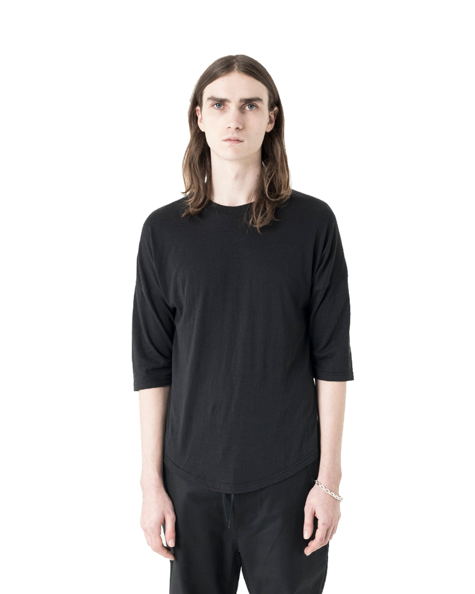 Plaz 3/4 Sleeve T-shirt - Black